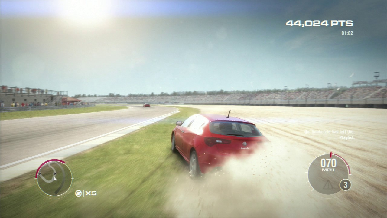 Grid 2 doesn't look quite as good on PS3 as it does on Xbox 360, but it's a subtle disparity.