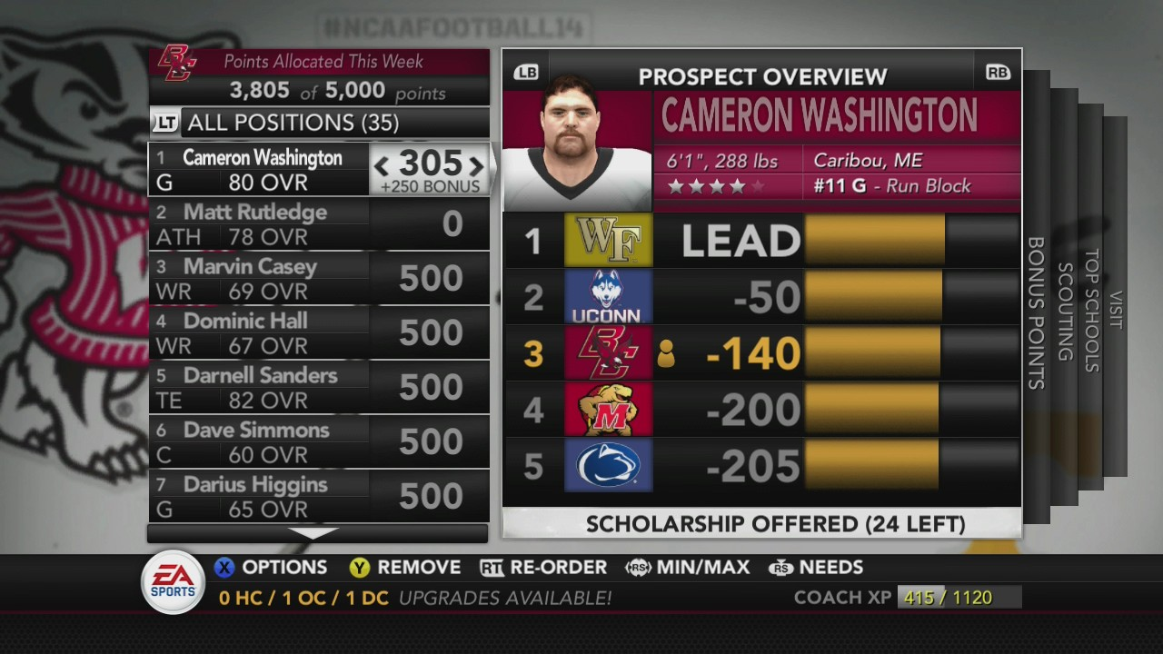 Cameron Washington better change his tune about BC if he knows what's good for him.