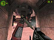 Some of the multiplayer levels have a distinct Quake III Arena look to them.