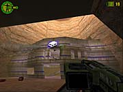 You'll often be able to create your own doors in Red Faction.