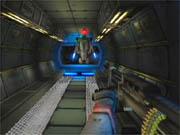 A guard bot aboard an Ultor spaceship.