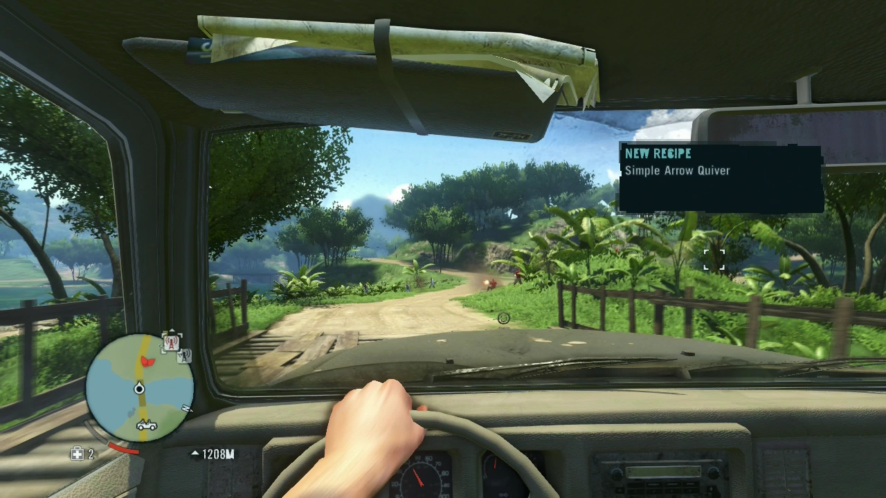 In Far Cry 3, a drive down a dirt road can turn dangerous in a hurry.