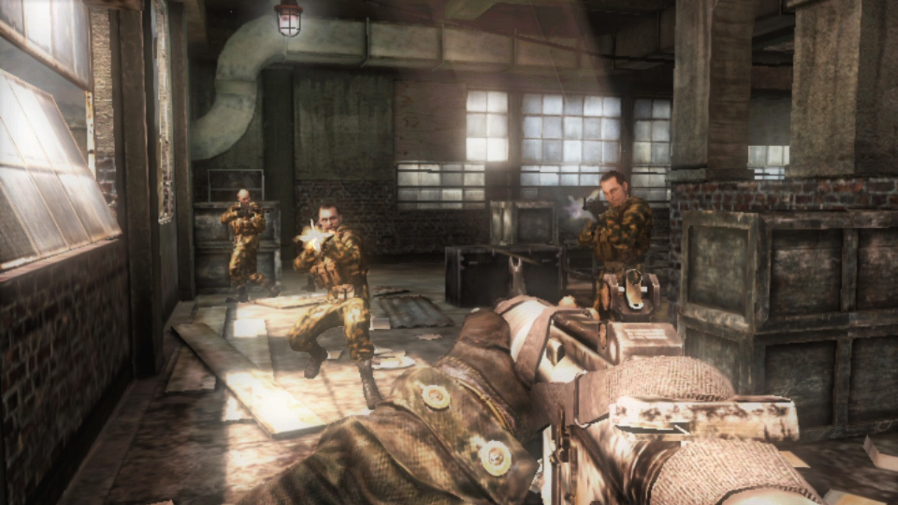 Anonymous, robotic enemies are the main component in single-player operations.