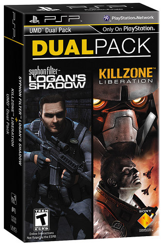 The Syphon Filter/Killzone collabo will be among the first PSP Dual Packs available.