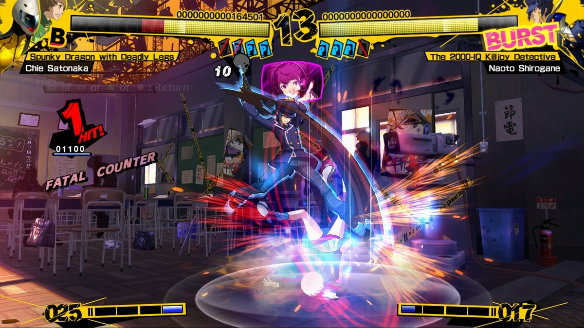 The game's pace is quick, similar to that of The King of Fighters XIII.