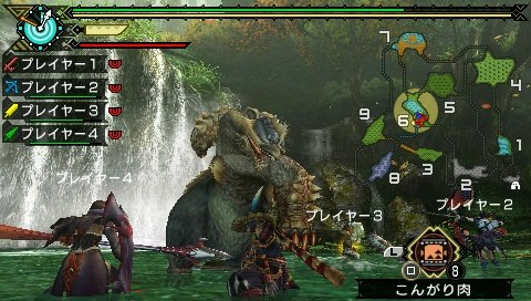 Japan continues its crusade against the monsters in Monster Hunter Portable 3.