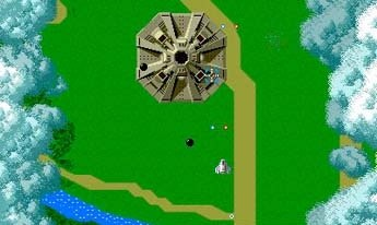 No longer does Xevious need to fake its 3D effect.