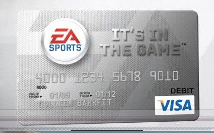 Colleen Barrett, we suggest you cancel your EA Sports debit card immediately.