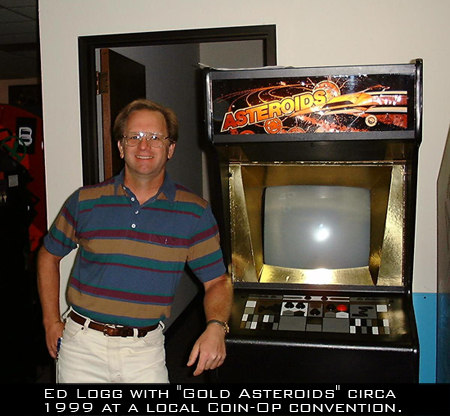 Ed Logg's credits include Gauntlet, Asteroids, and Centipede.