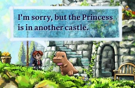 The mood created by Braid still allows for some levity.