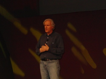 James Cameron appeared to explain the story behind Avatar.