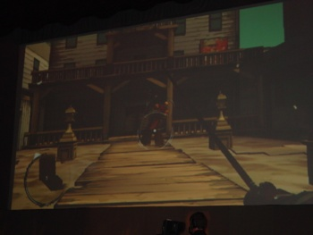Ubisoft showed a bit of live Red Steel 2 gameplay during its presentation.