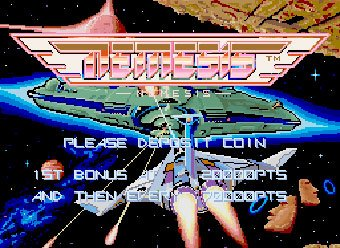 Nemesis' title screen.
