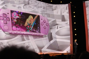 The new Hannah Montana PSP bundle drew lots of cheers from the audience.