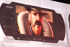 Soulcalibur hits the PSP with all-new mustache action.