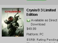 Crysis 3 is on the way.