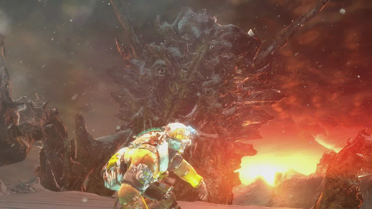 There are only a few boss fights in Dead Space 3, but they're quite fun.
