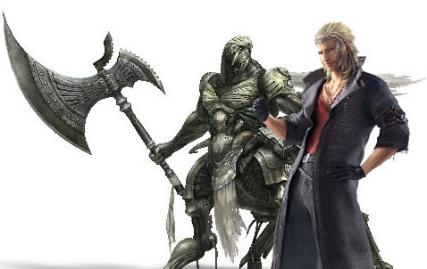 Snow and this armored fiend will be playable characters on the latest FFXIII-2 DLC.