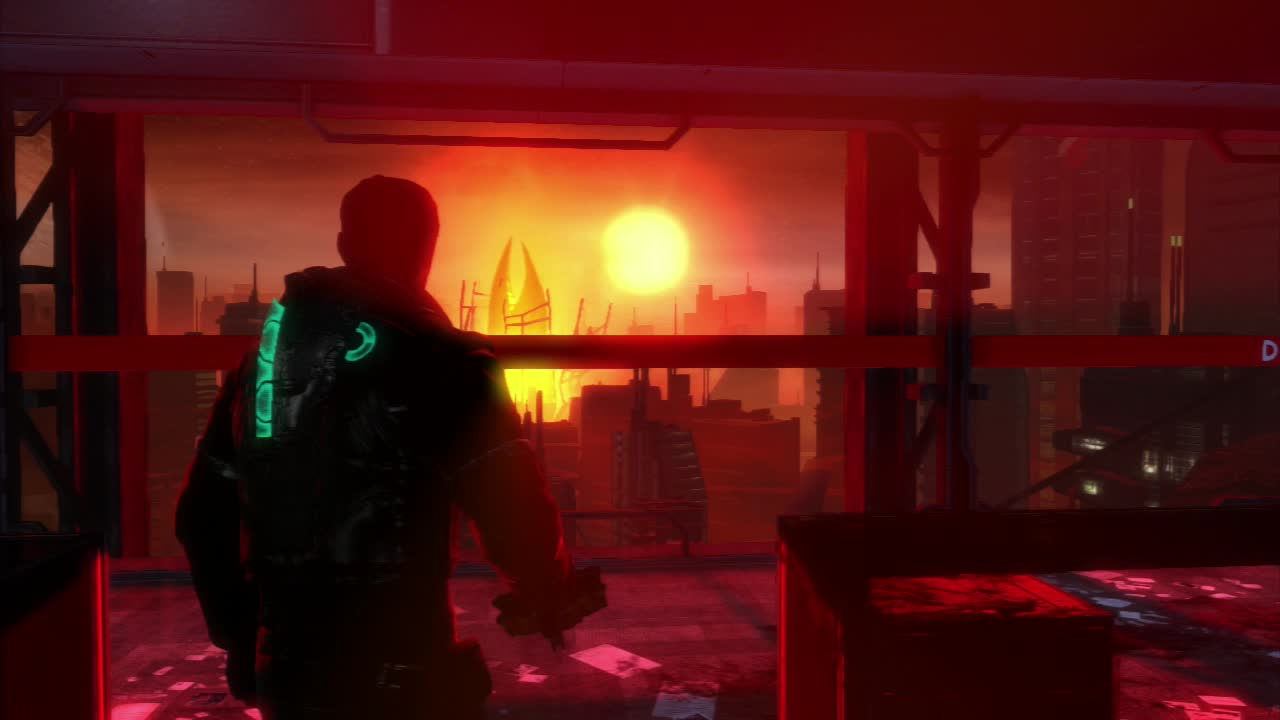 Even sunsets are creepy in Dead Space 3.