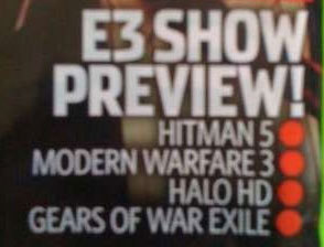 Microsoft's two hottest properties are coming to E3, according to a reputed scan of Xbox 360 World's cover.