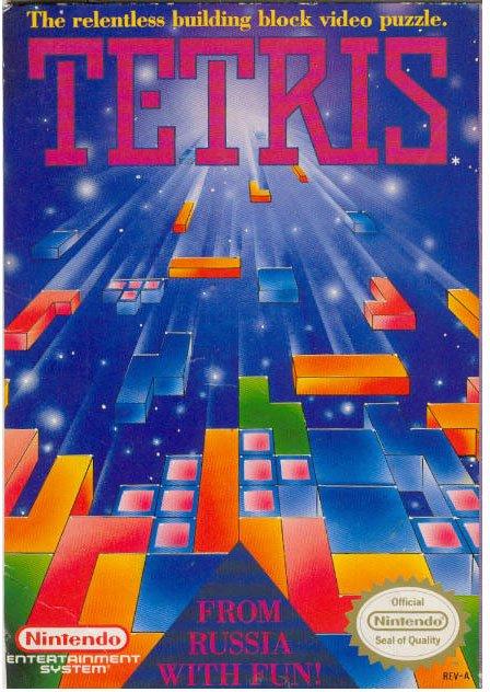 Tetris hit the big time on the NES.