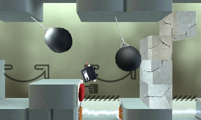 Cubic Ninja will be playable by titling the 3DS or just using the analog pad.