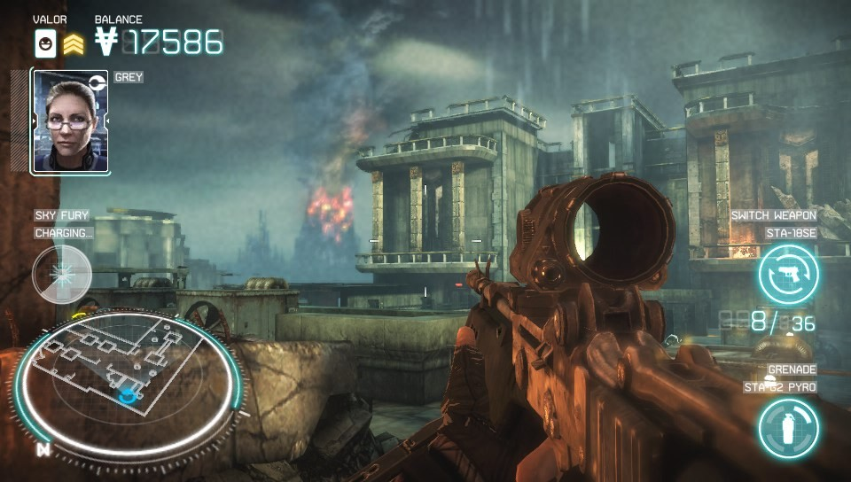 The harsh environments of Helghan look stunning in Killzone: Mercenary.