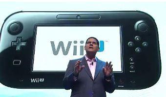 Reggie talking about the Wii U GamePad.