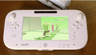 Wii Fit on the Wii U GamePad.