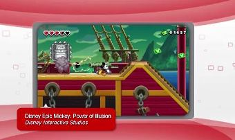 Disney Epic Mickey: Power of Illusion on 3DS.