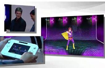 Just Dance 4 on display at Nintendo's briefing.
