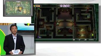 Luigi's Mansion in NintendoLand being shown off.