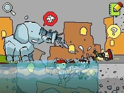 Yes, that is an elephant firing a rocket launcher.