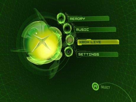 The original Xbox Live Menu.