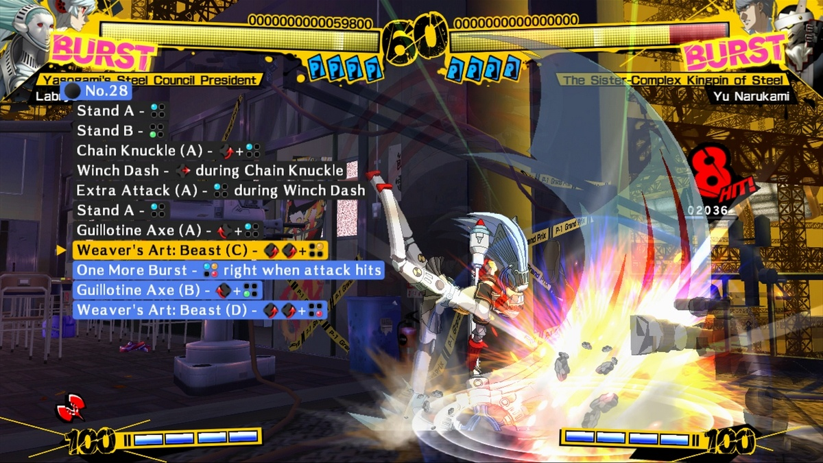 The character challenges include demonstrations to help with timing.
