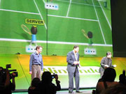 Wii Sports Tennis looked great at the Nintendo press conference.