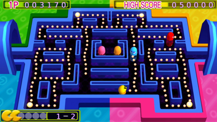 Pac-Man Arrangement is just more Pac-Man with gussied-up graphics.
