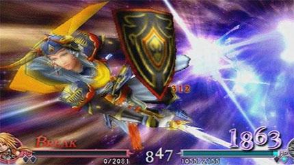 EX Burst attacks look spectacular.