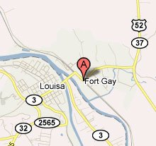 Yes, Fort Gay is an actual town in West Virginia.