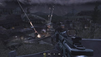We're pretty sure that real war doesn't look quite as cool as Call of Duty 4 does.