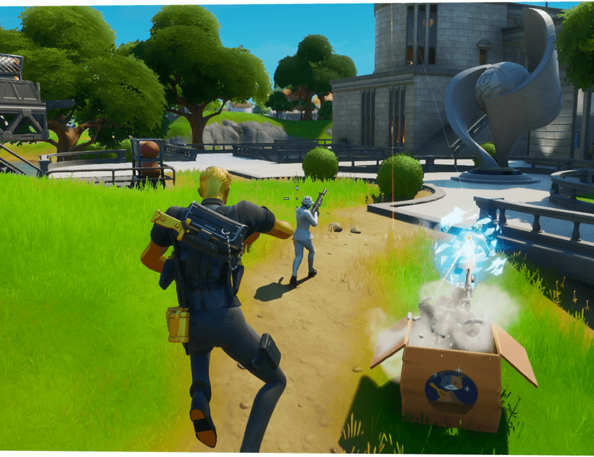 Fortnite Throw Shield Items Or Healing Items Fortnite S Week 1 Challenges List Lockie S Lighthouse Phone Booths And More Season 2 Gamespot