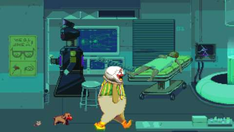 Dropsy has little animal friends who can help him along in his adventures.