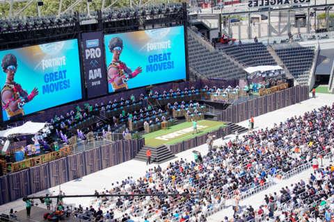 When Does The Pro Am Start Fortnite E3 2018 Fortnite S Celebrity Pro Am Battle Royale Tournament Winner And Photos Gamespot