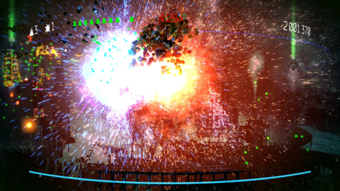 Resogun throws voxels around with wild abandon, creating fireworks-grade displays at the end of every level.