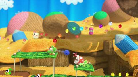 Each of the 48 levels contain five hidden rolls of yarn, which if collected, gives you a custom Yoshi skin.