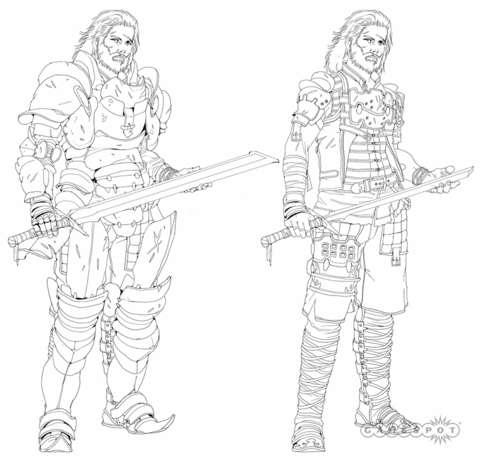 Concept art for protagonist Basch.