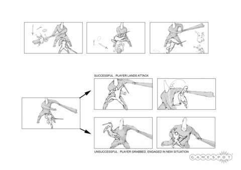 Design documents clearly outlines how combat would work against enemies