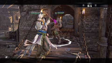 For Honor's combat encourages adaptive thinking, patience, and quick reflexes.