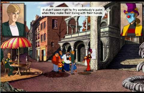 Stobbart disdains clowns, but not enough to maim them.