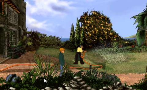 It was not often that adventure games in the 1990s featured water-sprays.